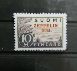Finland 1930 C1 Zeppelin Overprint Reproduction Reprint Place Holder