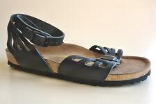 BIRKENSTOCK Classic Leather Ankle Strap Sandals PALMA black EU41 US10 UK8 -rare-