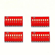 4x  Dip Switches  8 Position  -  RED