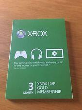 Microsoft Xbox LIVE Prepaid 3 Month Gold Membership
