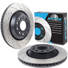 REAR DRILLED GROOVED 310MM BRAKE DISCS FOR AUDI A3 S3 3.2 V6 QUATTRO TDI TFSI