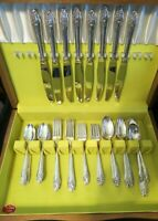 52 pc Flatware Set 1950 EVENING STAR by Oneida Community Service for 8 + Servers