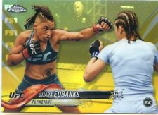 2018 Topps UFC Chrome SIJARA EUBANKS RC ROOKIE Fighter Gold Recfractor Card #/50