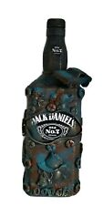 Jack Daniel's1L Karaffe Dekoflasche Steampunk Upcycling Unikat Dodgue Oldtimer