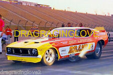 """""""Brand-X"""" Sien & Lankford 1973 Ford Mustang NITRO Funny Car PHOTO!"""