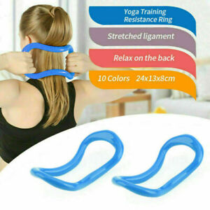 Yoga Circle Stretch Resistance Ring Pilates Bodybuilding Fitness Workout F1