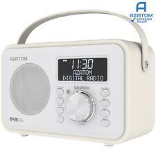 DAB Radio Home Speaker Digital Alarm Battery AZATOM Spitalfields WHITE