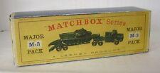 Repro Box Matchbox Major Pack M-3 Tank Transporter