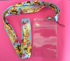 DISNEY CHIP AND DALE LANYARD ZIPLOCK  FASTPASS ID  MP3  HOLDER STURDY LATCH
