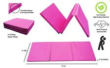 GymPro 6ft Tri Folding Gymnastics Mat Exercise Fitness Yoga Tumble Workout Mat