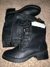 Dream Pairs Women's Amazon Mid Calf Combat Riding Boots Black Size 8.5