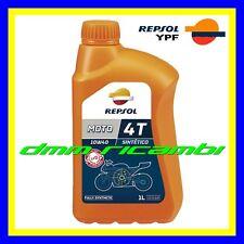 1 Litro Olio Motore 4 tempi REPSOL 4T MOTO 10W/30 Sintetico Lubrificante SJ MA2
