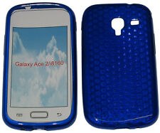 Pattern Gel Jelly Case Protector Cover For Samsung Galaxy Ace 2 GT i8160 Blue UK