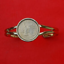Coin Gold Plated Cuff Bracelet New Us 2001 New York Sate Quarter