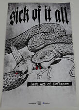 Sick Of It All Last Act Defiance promo poster 11x17 rare limited official print
