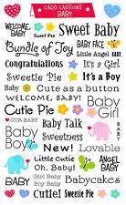 Mrs. Grossman's Giant Stickers - Card Captions Baby - Bundle of Joy - 2 Strips