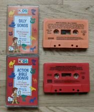 Cedarmont Kids Classics Cassette Lot Action Bible Songs and Silly Songs
