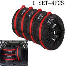 """4 Pack 13-16"""" Car Spare Tyre Wheel Protective Cover Tire Storage Bags Carry Tote"""