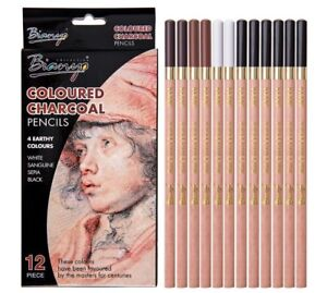 Artist Soft Pastel Pencils Crayon Charcoal Wooden For Sketching Drawing Supplies