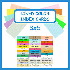 150 Color Index Cards 3x5 Ruled Lined Card Stock ~ Blank Cardstock with Lines
