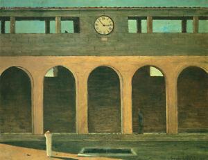 The Enigma of the Hour by Giorgio de Chirico   Paper Print Repro