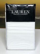 Ralph Lauren Dunham Sateen King Pillowcases (2) 300 TC 100% Cotton White NEW $50