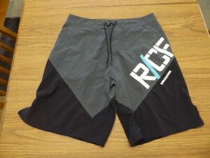 Reebok Gray Black CrossFit Training Board Athletic Shorts Men's 33 Very Good Pre
