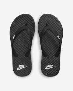 Nike On Deck Women's Sandals Slippers Slides Flip Flops black white 9 10 002