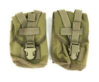 Set of 2 Eagle Industries Canteen General Purpose Pouch, Khaki, MOLLE, SFLCS