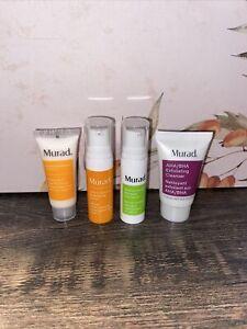 Murad 4 Pc Set - Vita-C Serum, Retinol Eye Serum, Day Moisture, AHA/BHA Cleanser