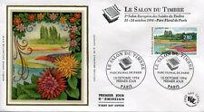 FRANCE FDC - 2909 1 SALON DU TIMBRE - 15 Octobre 1994 - LUXE sur soie