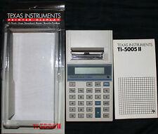 TEXAS INSTRUMENTS TI-5005 II Printer Display Calculator 10 Digit Ready-To-Run