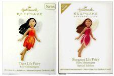 2012 Hallmark Fairy Messengers Stargazer Tiger Lily Repaint Ornament Set!