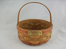 Longaberger 1985 Cookie Basket Red Christmas