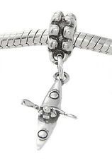 STERLING SILVER DANGLING KAYAKER WITH PADDLE BEAD