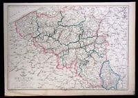 1860 Weekly Dispatch Map - Belgium - Luxemburg Brussels