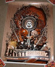 THE AVETT BROTHERS concert gig tour poster 10-7-16 LITTLE ROCK 2016 Burwell AE