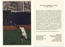 Mantle's Perfect Catch advertising card -triple crown yr photo by Andy Jurinko
