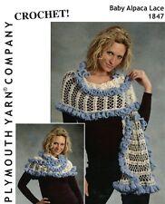 "Women 35/""-55/"" Crochet Shell /& Cardigan Set Plymouth CROCHET PATTERN C156"