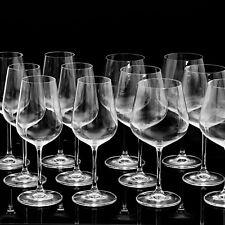 12 Stück Weingläser aus Kristallglas 6x Burgunderglas (groß) und 6x Weißweinglas