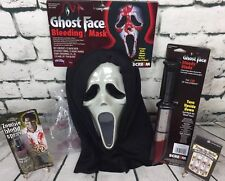 LOT Adult Bleeding Ghost Face Scream Mask Knife Dripping Nails Horror Halloween