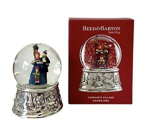 "Reed & Barton - Caroler's Village Snowglobe - Musical, Christmas 5.5"" #875196"