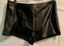 New Victorias Secret Faux Leather Short Shorts M Hot Pants Sexy Medium