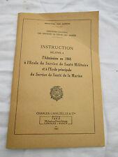 manuel instruction 1960 admission à l'école de santé militaire et de la marine