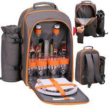 GEEZY Family Picnic Cool Bag Backpack Hamper Wine Cooler Coffee Bottle Holder