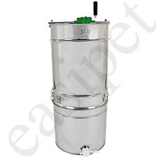 Stainless Steel 4 frame Compatto Manual Honey Extractor Bee Beekeeping Easipet