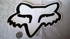"CLEAR 9"" FOX Racing sticker mx surfing atv offroad Fox racing team sponsor decal"