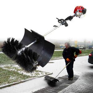Benzin Kehrmaschine Motorbesen 2,3 PS 2-Takt Elektro Schneefräse Schneeschieber