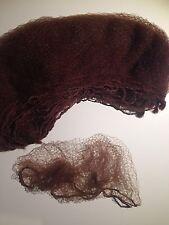 DARK BROWN HAIR NETS 5 PACK - BUN NET Ballet Calisthenics Gymnastics Hairnet