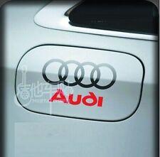Incredibile CARBURANTE AUTO GAS TANK CAP Adesivi Adesivo Decalcomania Grafica per Audi (Nero)
